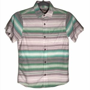 Kid's First Wave Striped Short Sleeve Button Down